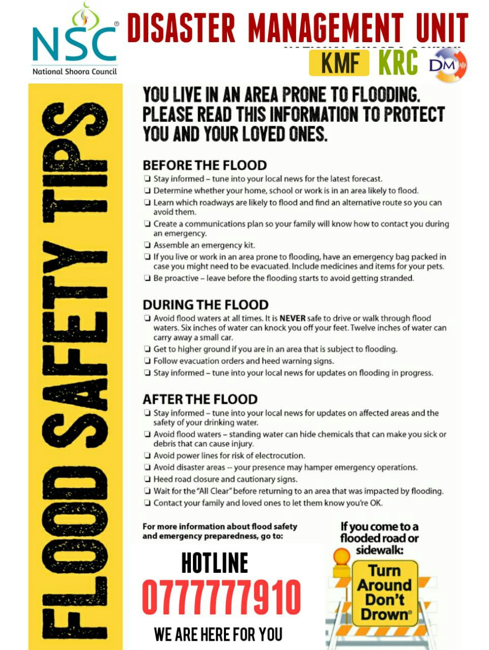 Flood Safety tips – Sailan Muslim – The Online Resource for